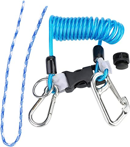 Scuba Diving Coiled Lanyard Quick Release With Snap Hook New Improved Design