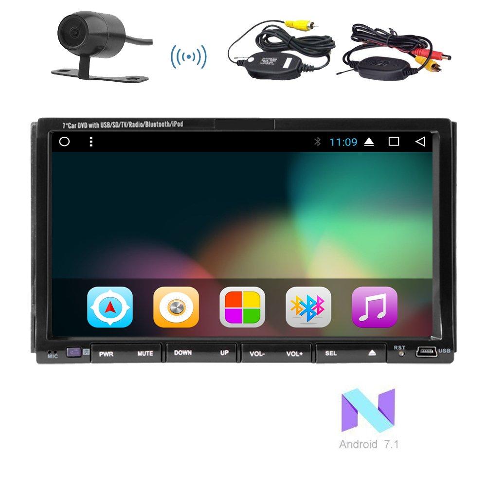 Eincarアンドロイド1024 * 600 HDタッチスクリーンのサポートGPS土ナビゲーションバーのBluetoothラジオFM AM RDS WIFI 3G 4G DAB + OBD SWC +ワイヤレスカメラ2GBの32ギガバイトとダブル2ディンヘッドユニットのサポートDVD CDプレーヤー7.1カーAutoradioステレオ! B0778HQ5GF