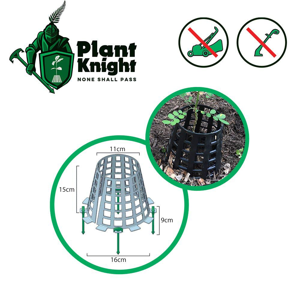 Plant Knight Planta y Protector del /árbol y Protector para los /árboles expandible Negro-6 /árboles j/óvenes