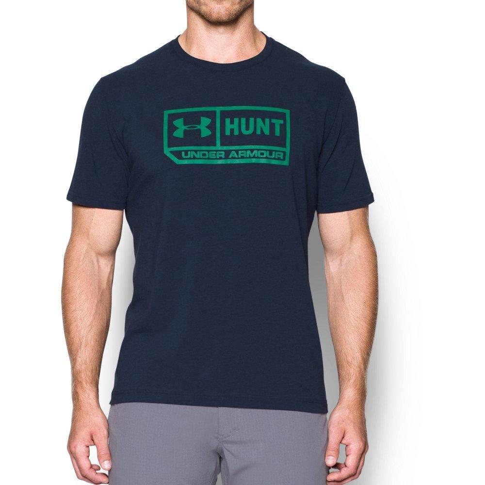 Under Armour Men's Hunt Pill T-Shirt,Midnight Navy Medium (410)/Glass Green, Small