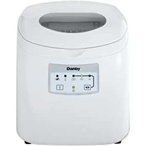 Danby DIM2500WDB Portable Ice Maker, 120 V, Steel 2 lb White