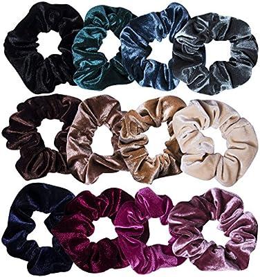 12 Pcs Hair Scrunchies Velvet Elastic Hair