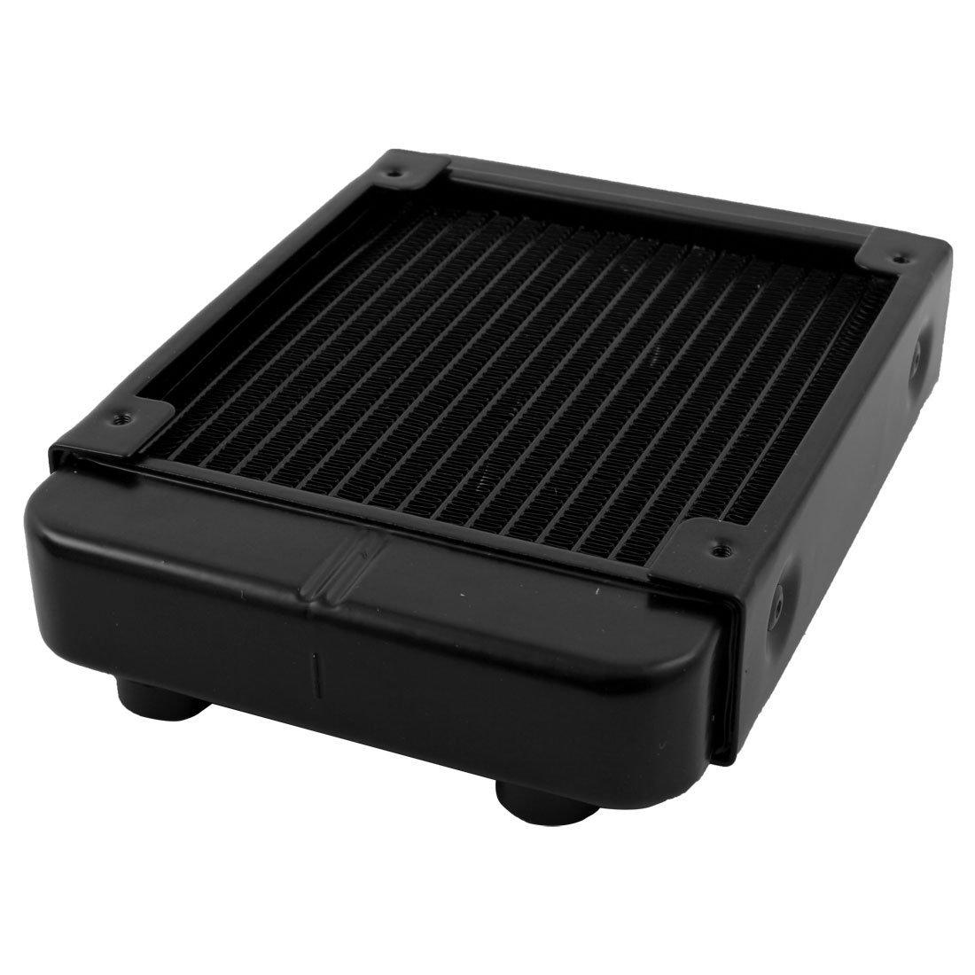 Amazon.com: eDealMax CPU del ordenador 18 aluminio tuberías de agua de refrigeración Intercambiador de calor del radiador de 120mm Negro: Electronics