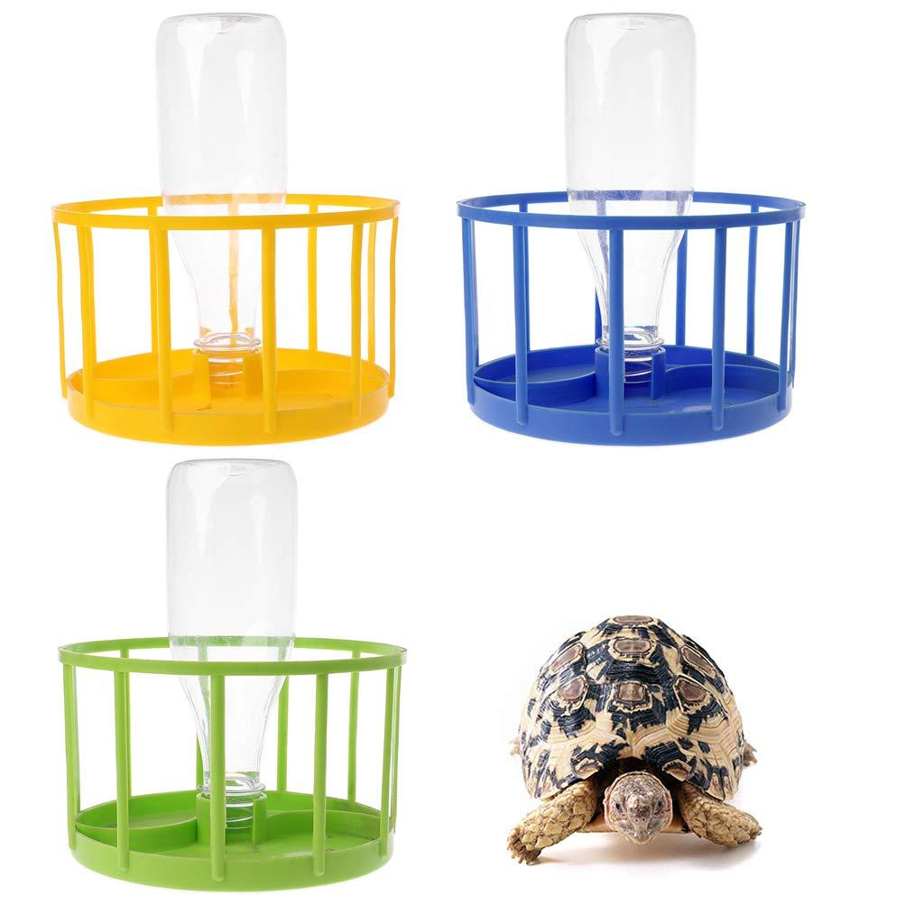 Comedero para reptiles plato para tortuga y lagarto azul SHINAN adorno de terrario cuencos de agua para acuario