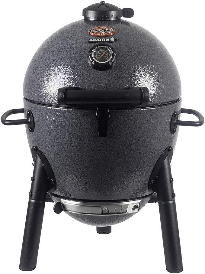 Char-Griller E86714 AKORN Jr. Kamado, Ash Portable Charcoal Grill - Best Design
