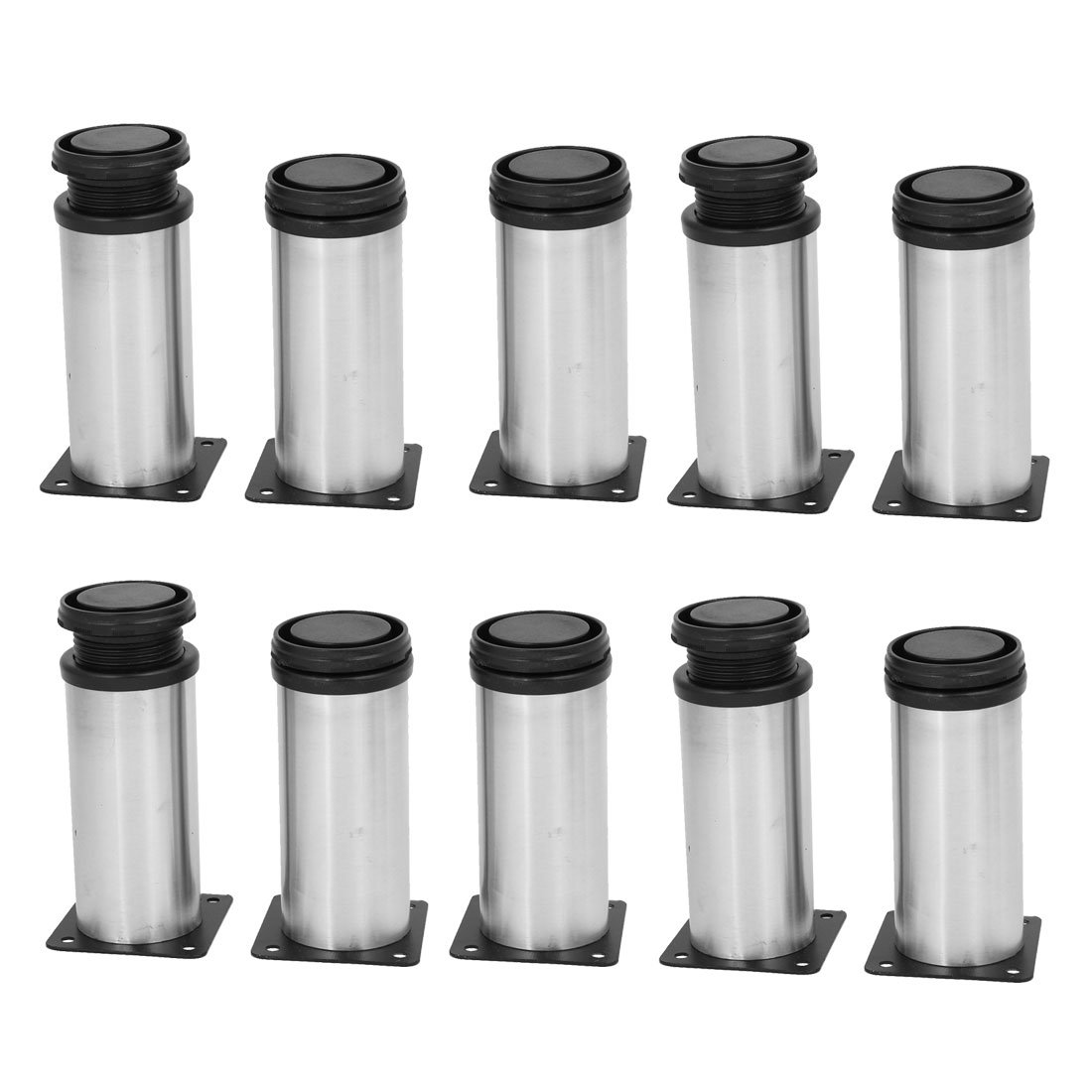 uxcell 50mm x 120mm Metal Adjustable Cabinet Sofa Feet Leg Round Stand 10PCS by uxcell (Image #1)
