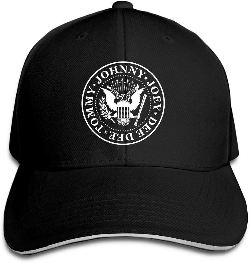 Ramones Punk Rock banda Velcro ajustable gorra de béisbol, Negro ...