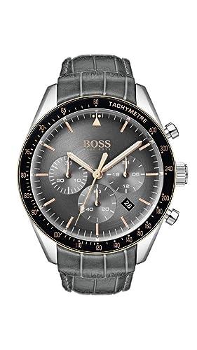 Hugo Boss Watch Reloj Cronógrafo para Hombre de Cuarzo con Correa en Cuero 1513628: Amazon.es: Relojes