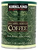 Kirkland Signature 100% Colombian Dark Roast Decaffeinated Ground Coffee, 3 Pound (Pack of 2)