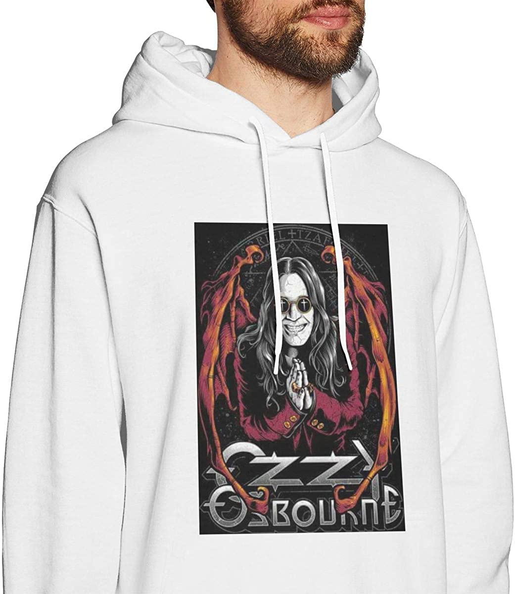 HelplesS Ozzy Osbourne Fashion Mens Hat and Pocketless Sweater White XL