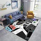 Gamer Controller Area Rugs Non-Slip Floor Mat Doormats Home Runner Rug Carpet for Bedroom Indoor Outdoor Kids Play Mat…