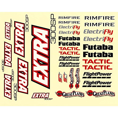 Great Planes Decals Extra 300SP EP ARF Vehicle Part