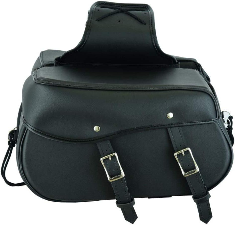 Equipment Storage Organizer Seat pack Saddle bag Waterproof Storage Box Brown RXL Motorcycle Motorbike Leather Saddle bag