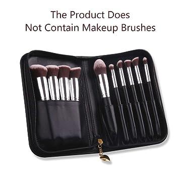 4411354620 Amazon.com   DUcare Professional Makeup Brushes Organizer Bag Leather Big  Makeup Artist Case with Mirror Holder Cosmetic Makeup Handbag(Only Bag)    Beauty