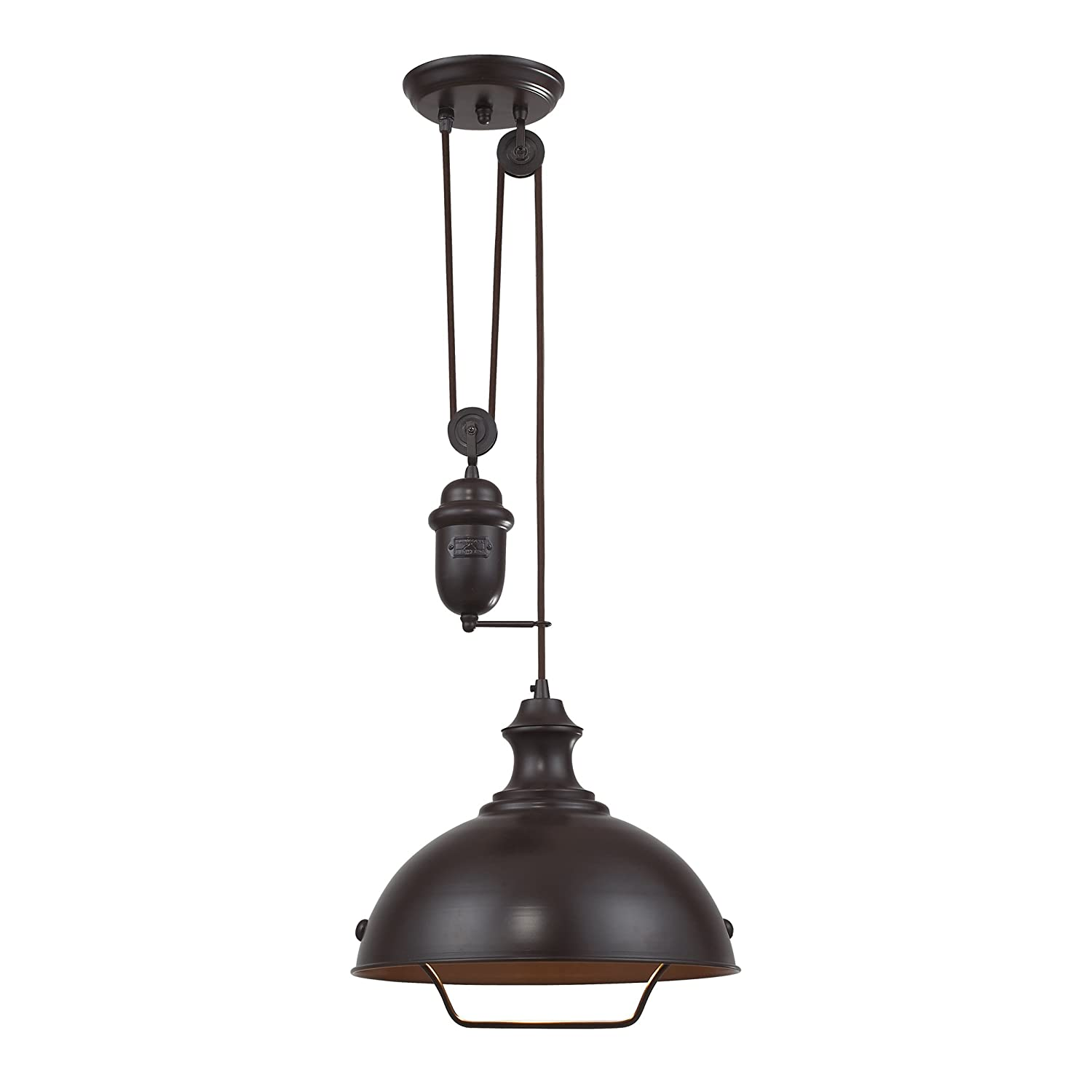 Oil Rubbed Bronze Kitchen Island Lighting Elk 65071 1 14 Inch Farmhouse 1 Light Pendant Oiled Bronze