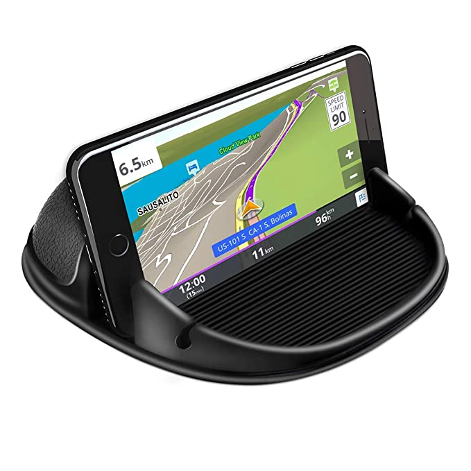 Loncaster Car Phone Holder, Car Phone Mount Silicone Car Pad Mat for Various Dashboards, Anti-Slip Desk Phone Stand Compatible with iPhone, Samsung, ...