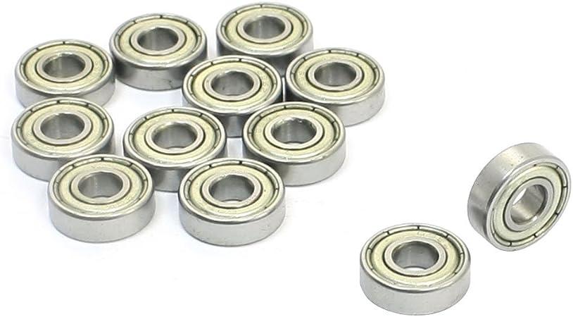 10 Pcs Double Blindage Métallique Roulement À Billes 5mm x 10mm x 4mm