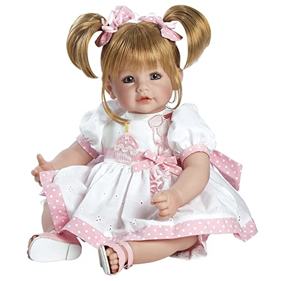 "Adora Toddler Happy Birthday Baby 20"" Girl Weighted Doll Gift Set for Children 6+ Huggable Vinyl Cuddly Snuggle Soft Body Toy"