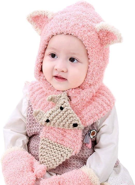 Bébé Fille Winterset Bonnet écharpe gants Babymütze hiver casquette MINNIE 48,50