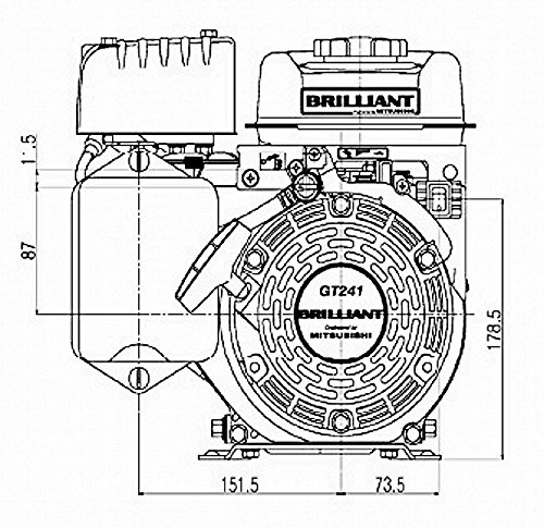 Brilliant Gt241 2 4hp 79 6cc Ohv Gasoline Engine Engineered By