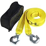 "JCHL Nylon Tow Strap with Hooks 2""x20' Car Vehicle Heavy Duty Recovery Rope 20,000 lbs Capacity Tow Rope for Car Truck…"