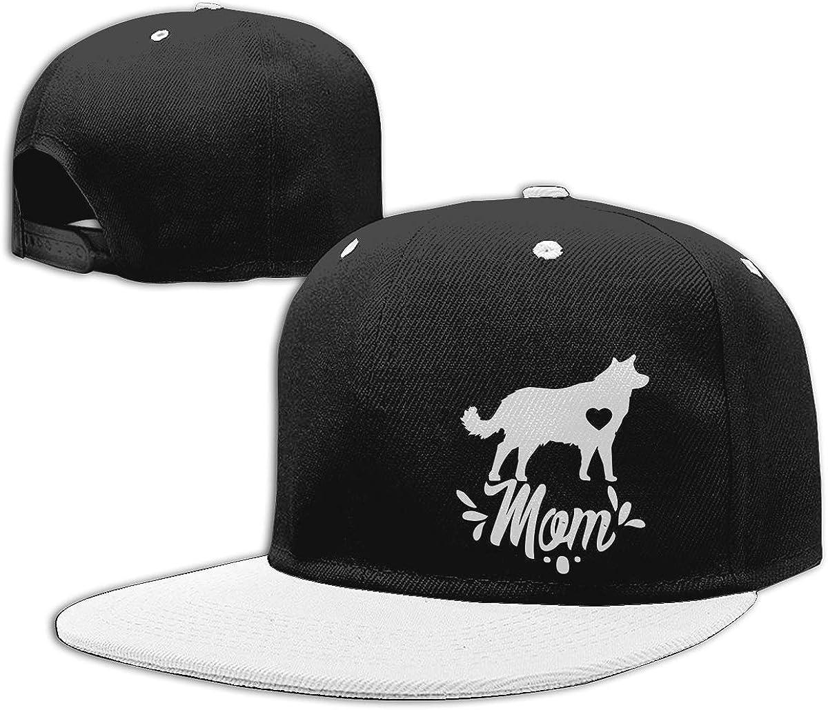 NMG-01 Men and Women Dad Hat Border Collie Dog Mom Unisex Flat Brim Baseball Caps
