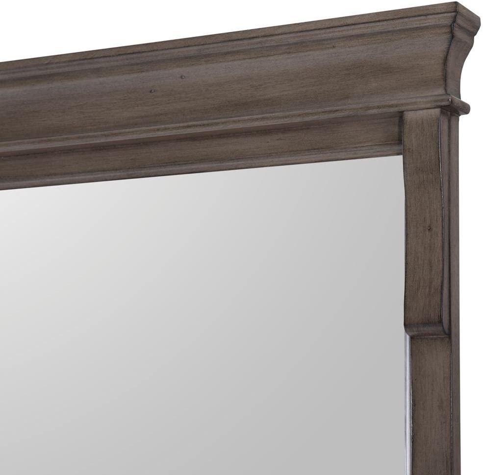 Amazon Com Home Decorators Collection Naples 32 In L X 24 In W Wall Hung Mirror In Distressed Grey Home Kitchen