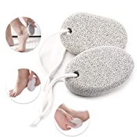 Natural Pumice Stone for Feet 2 PCS, Phogary Lava Pedicure Tools Hard Skin Callus...