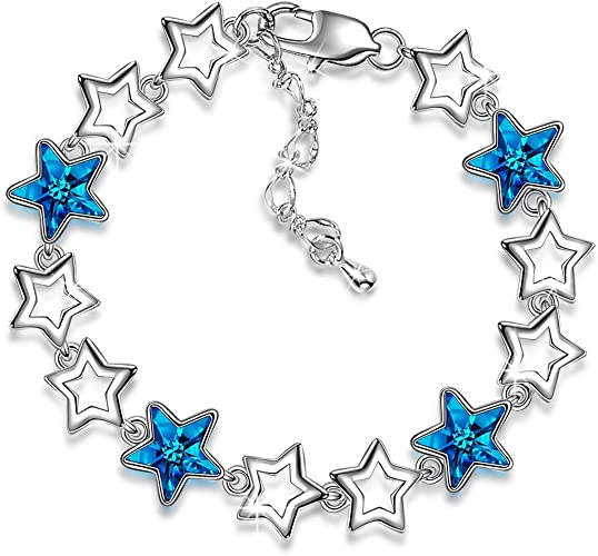 New Fashion Shinny Star Tiny Crystal Pendant Necklace Slim Chain For Women Gifts