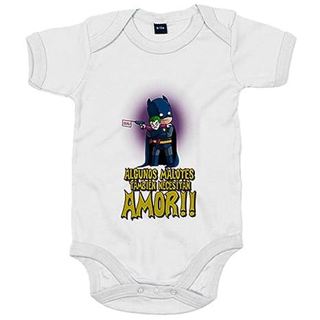Body bebé Batman y Joker algunos malotes también necesitan amor - Blanco 412058780dc