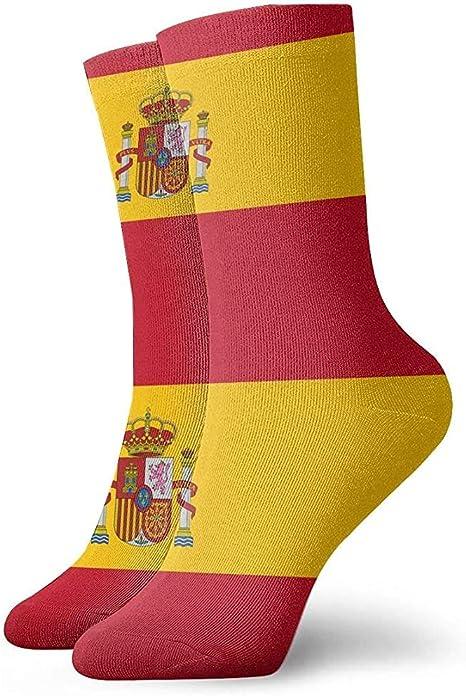 Dydan Tne España Bandera Novedad Calcetines Cortos Calcetines Deportivos de Tubo Deportivo: Amazon.es: Deportes y aire libre