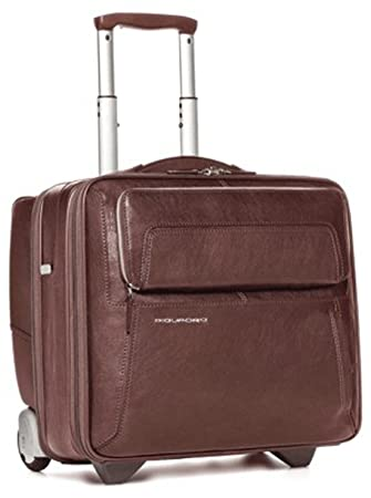 ecbb2632c26560 Piquadro Briefcase Up2date with trolley system, brown CA1452UP/MA: Amazon.co.uk:  Luggage