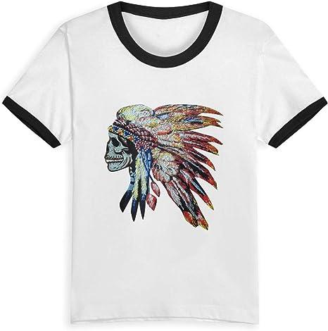 Queen Elena Colorido Chief Headdress, 2-6Y Cartoon Print Boys T Shirt Summer Infant Niños Niñas Fashion Camisetas Ropa Algodón Bebé Contraste Color Negro Negro (3 años: Amazon.es: Ropa y accesorios