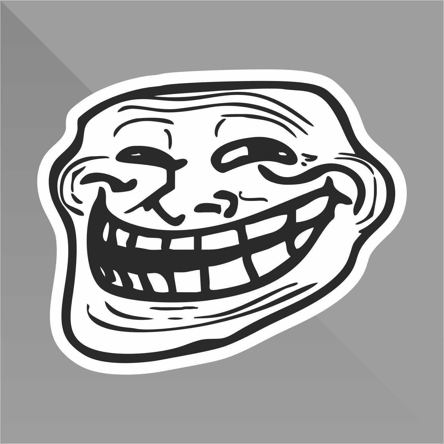 Erreinge sticker troll face meme funny decal auto moto casco wall camper bike adesivo adhesive autocollant pegatina aufkleber cm 10 amazon co uk