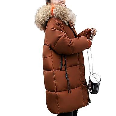 en vente en ligne Prix 50% renommée mondiale HANMAX Doudoune Femme Hiver Mi-Longue avec Capuche Fourrure ...