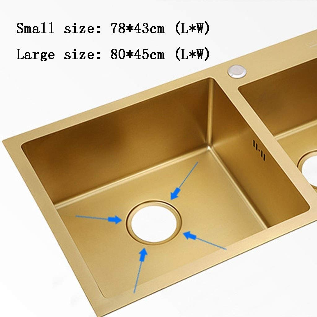 Amazon.com: Kitchen Sinks 304 Stainless Steel Sink Thick ...