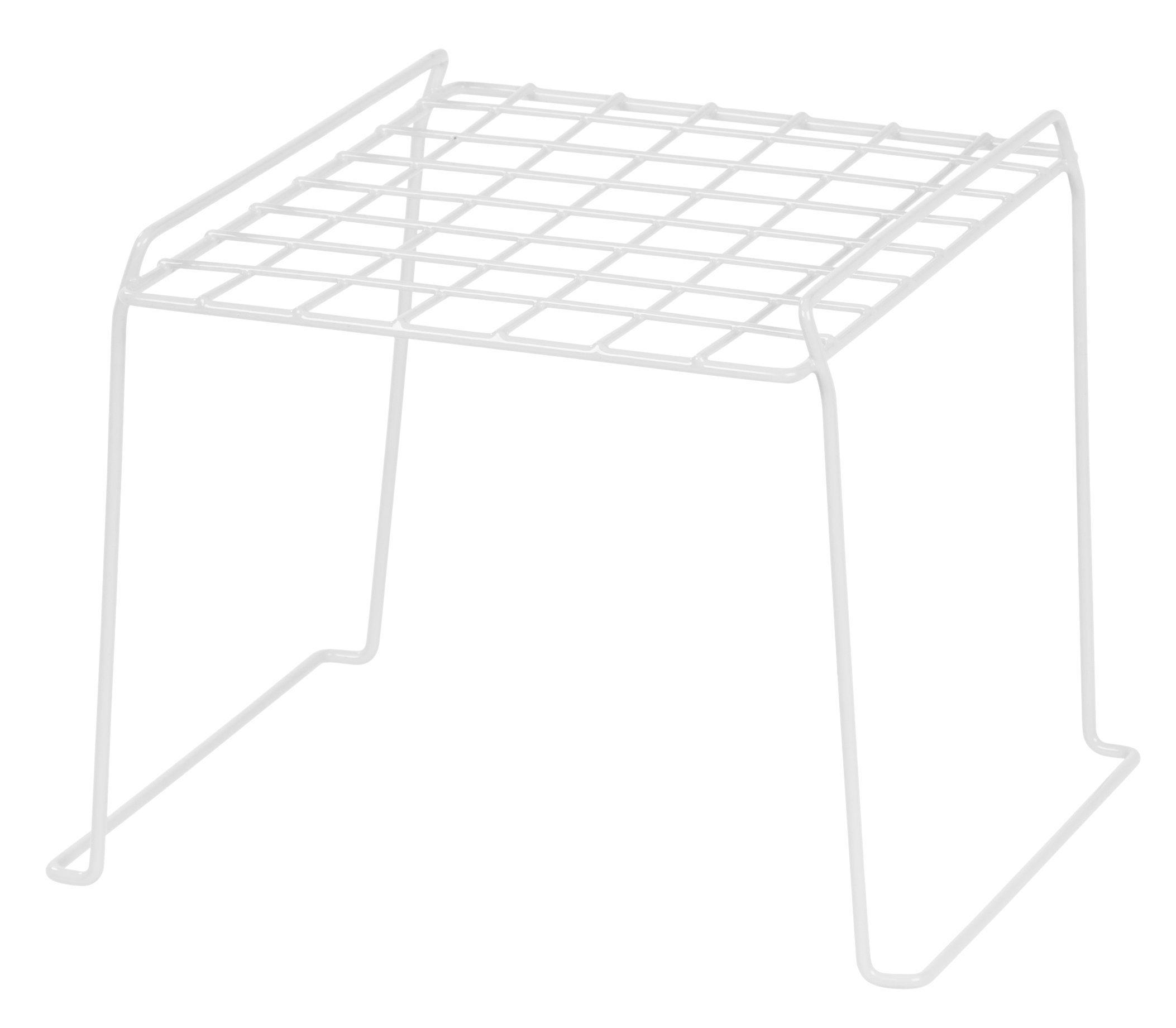IRIS 8-inch Stackable Wire Locker Shelf, 4-pack, White