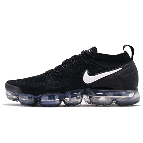 59e39fef04b4d Nike Men s s Air Vapormax Flyknit 2 Gymnastics Shoes Black White Dark  Grey Metallic