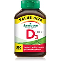 Jamieson Vitamin D3 1,000 IU Value Supplement Pack, 500-Count