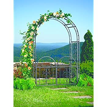 Amazoncom Achla Designs Tuscany Arbor Garden Arch with Gate