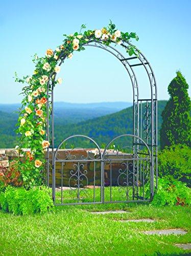 Plow And Hearth Montebello Garden Arbor Trellis With Gate