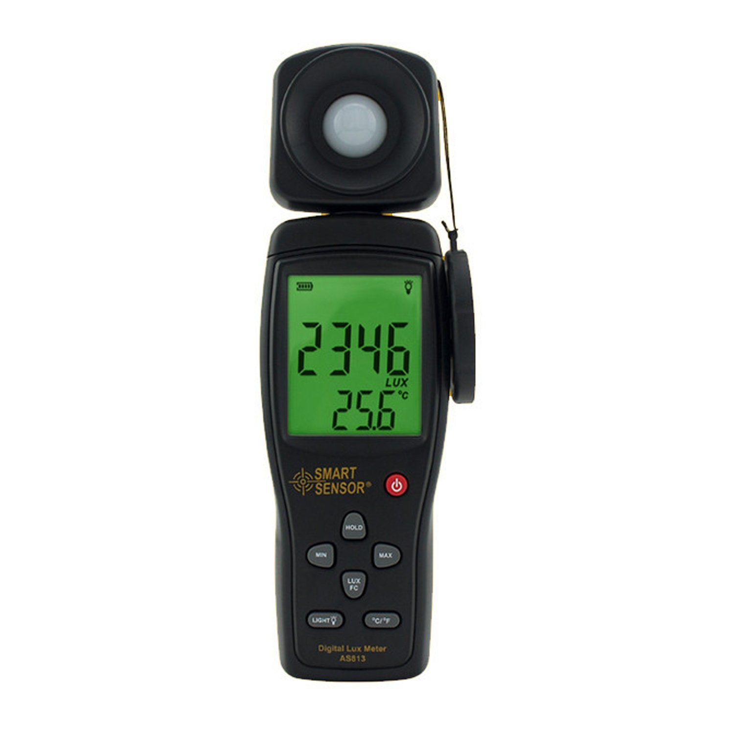 High Precision Digital Lux Meter Light Meter Luminance Tester Photometer Range: 1-200,000 Lux Measurement Tool AS813