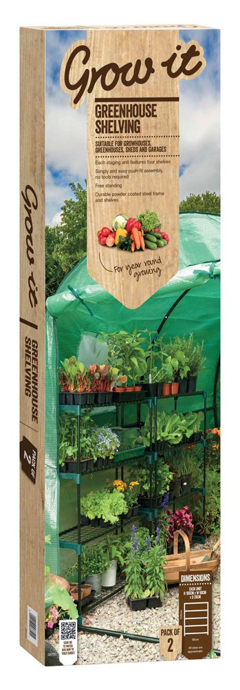 Gardman Greenhouse staging shelving double value pack 08751
