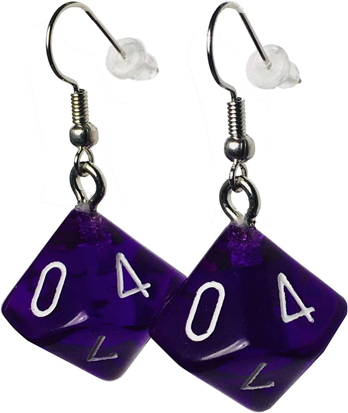 Hook with Earnuts 5 Colors Available d20 20-Sided Polyhedral Dice Earrings