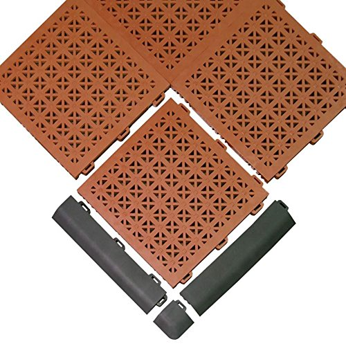 Greatmats Staylock Perforated Floor Tile 26 Pack Black