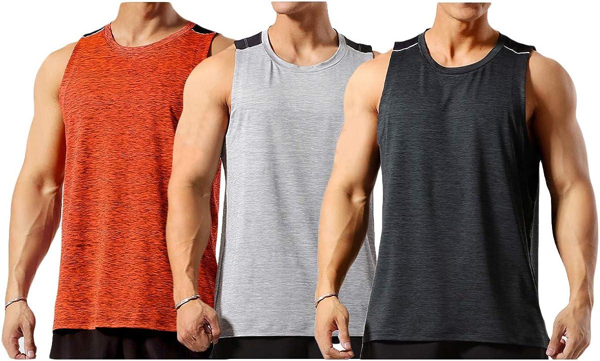 Tank Top Herren Sport Sommer Tanktop Schnelltrocknendes Muskelshirt Achselshirts /Ärmelloses Fitness Shirt f/ür Running Gym