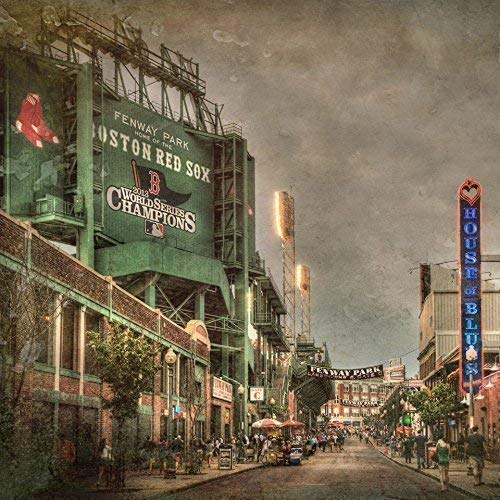 Fenway Park Scoreboard, Fenway Park Wall Art, Vintage Red Sox Decor ()