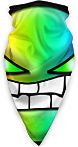Geometry Dash Face Mask Scarf Microfiber Neck Warmer for Unisex