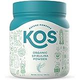 KOS Organic Spirulina Powder - Pure, Non-Irradiated Green Blue Spirulina - Rich in Protein, Vitamins, Antioxidants, Fiber - G