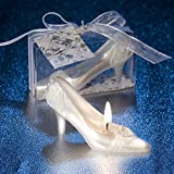 35 candle - Exquisite Crystal Shoe Candle Propose Dinner Decoration Cake Topper With Gift Box and Greeting Card